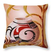 Indian Summer Throw Pillow by Ronald Chambers
