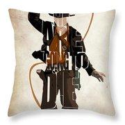 Indiana Jones Vol 2 - Harrison Ford Throw Pillow by Ayse Deniz