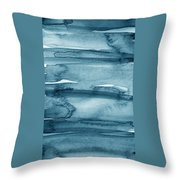 Indigo Water- Abstract Painting Throw Pillow by Linda Woods