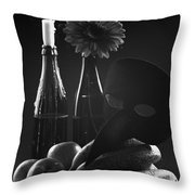 Indoors Relation Throw Pillow by Marcio Faustino