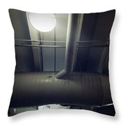 Industrial Interior Throw Pillow by Les Cunliffe