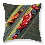 Indy Car's Tony Kanaan Throw Pillow by Blake Richards