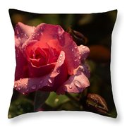 Inner Glow In Pink Throw Pillow by Georgia Mizuleva