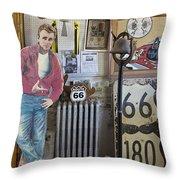 Inside Jackrabbit Trading Post Throw Pillow by Priscilla Burgers