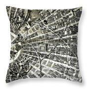 Inside Orbital City Throw Pillow by Murphy Elliott