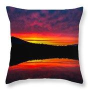 Inside Passage Sunrise Throw Pillow by Robert Bales