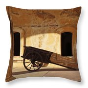 Inside The Fortress Throw Pillow by Deborah Smith