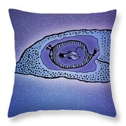 Inside The Whale Throw Pillow by Gianfranco Weiss