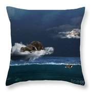 Insomnia Throw Pillow by Martine Roch