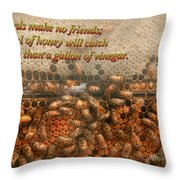 Inspiration - Apiary - Bee's - Sweet Success - Ben Franklin Throw Pillow by Mike Savad