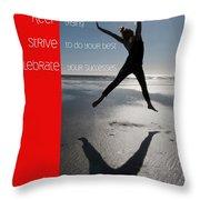 Inspiration Throw Pillow by Lisa Knechtel