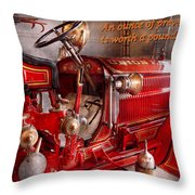 Inspiration - Truck - Waiting for a call Throw Pillow by Mike Savad