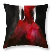Inspired by Alexander McQueen Fashion Illustration Art Print Throw Pillow by Beverly Brown Prints
