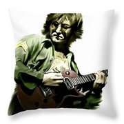 Instant Karma  John Lennon Throw Pillow by Iconic Images Art Gallery David Pucciarelli
