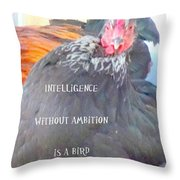 intelligence without Throw Pillow by Hilde Widerberg