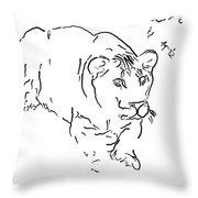 Intensity 4 Throw Pillow by Steve Harrington