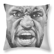 Intensity Lebron James Throw Pillow by Tamir Barkan
