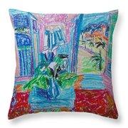 Interior A La Nice Throw Pillow by Esther Newman-Cohen