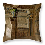 Interior View Of The West Temple Throw Pillow by Le Pere