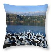 Into Port Throw Pillow by Mountain Dreams