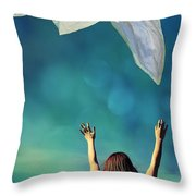 Into The Atmosphere Throw Pillow by Laura Fasulo