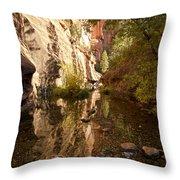 Into The Canyon  Throw Pillow by Saija  Lehtonen