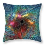 INto The Galaxy Throw Pillow by Deborah Benoit