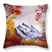 Into The Mountains Throw Pillow by Erik Coryell
