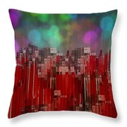 Into The Night Sky Throw Pillow by Jack Zulli