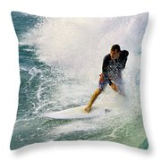 Into The Vortex Throw Pillow by Laura Fasulo