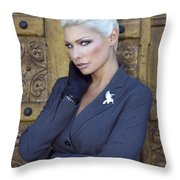 Intrigue Palm Springs Throw Pillow by William Dey