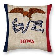 Iowa State Flag Throw Pillow by Pixel Chimp
