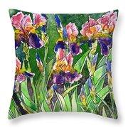 Iris Inspiration Throw Pillow by Zaira Dzhaubaeva