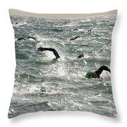 Ironman 2012 Sheer Determination Throw Pillow by Bob Christopher