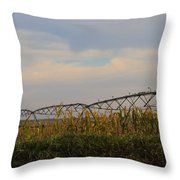 Irrigation On The Farm Throw Pillow by Dan Sproul