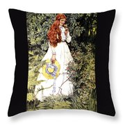 Is She Not Pure Gold My Mistress Throw Pillow by Eleanor Fortescue Brickdale