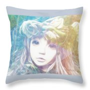 Isangelle Clariscendre Throw Pillow by Barbara Orenya