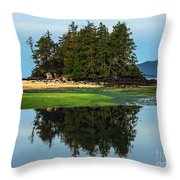 Island Reflection Throw Pillow by Robert Bales
