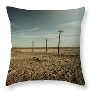 It Was a Strange Day Throw Pillow by Laurie Search