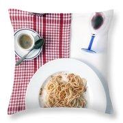 italian food Throw Pillow by Joana Kruse