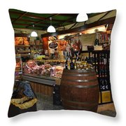 Italian Grocery Throw Pillow by Dany Lison