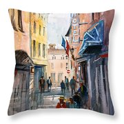 Italian Impressions 3 Throw Pillow by Ryan Radke