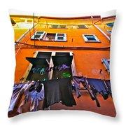 Italian Laundry Throw Pillow by Mark Prescott Crannell