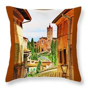 Italy Siena Throw Pillow by Irina Sztukowski