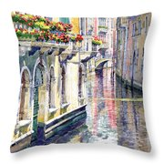 Italy Venice Midday Throw Pillow by Yuriy Shevchuk