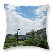Ithaca College Campus Throw Pillow by Photographic Arts And Design Studio