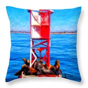 It's Lonely At The Top Throw Pillow by Michael Pickett