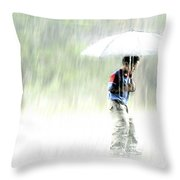 It's Raining Outside Throw Pillow by Heiko Koehrer-Wagner