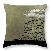 It's Raining Umbrellas Throw Pillow by Gianfranco Weiss