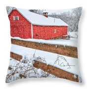 It's Snowing Throw Pillow by Bill Wakeley